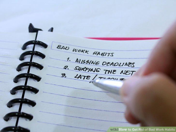 Image result for bad work habits