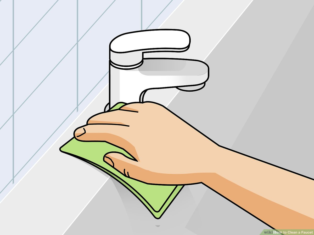 3 ways to clean a faucet wikihow