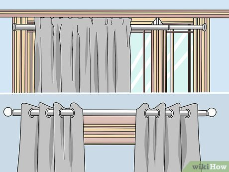 to hang curtains over vertical blinds