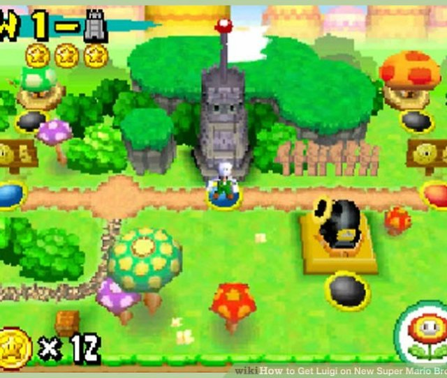 Image Titled Get Luigi On New Super Mario Bros Ds Step 7