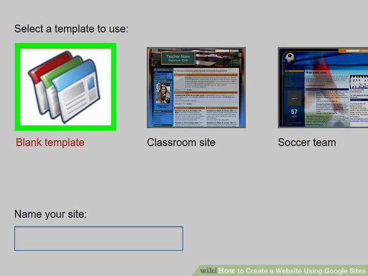 Create Google Sites Step 3