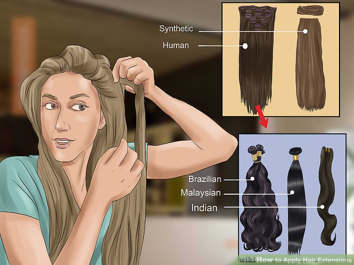 Image Led Apply Hair Extensions Step 1