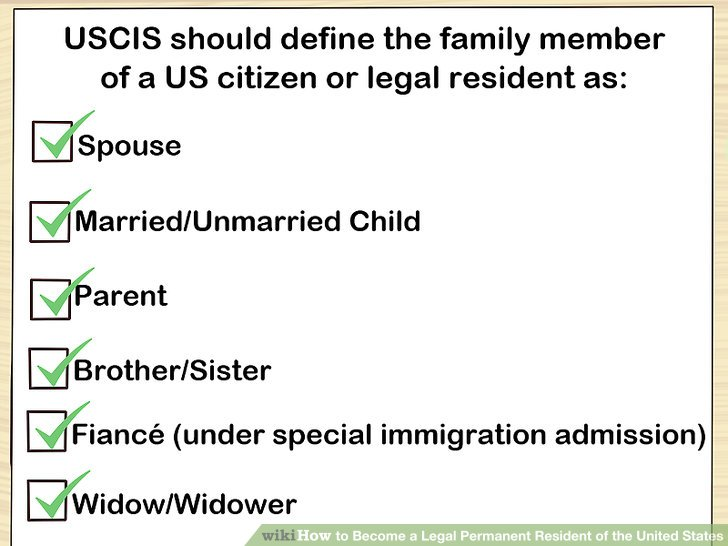 Image Titled Become A Legal Permanent Resident Of The United States Step 1