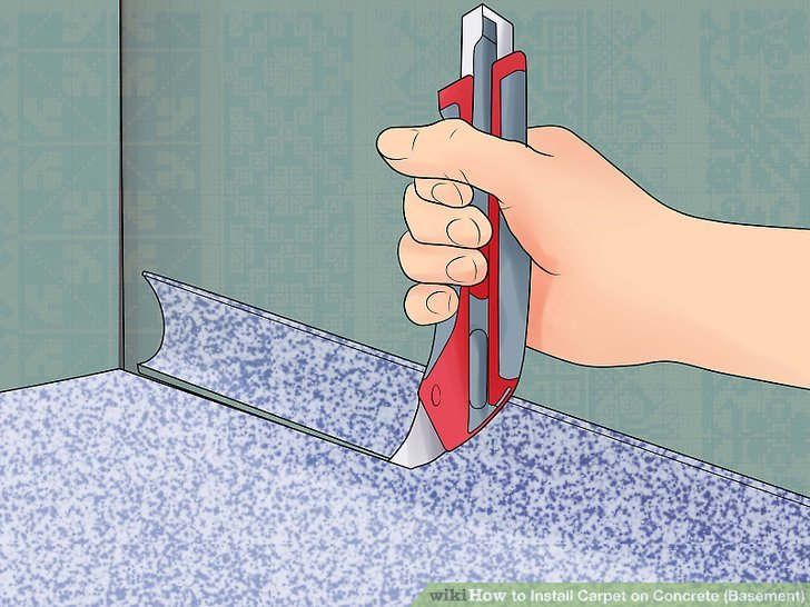 How To Install Carpet On Concrete Bat With Pictures