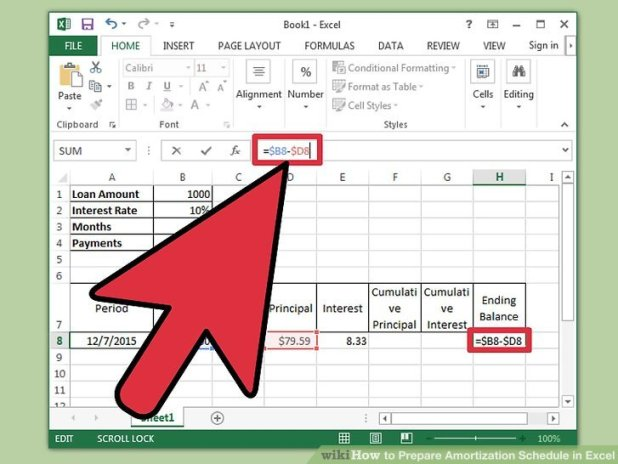 amortization in excel