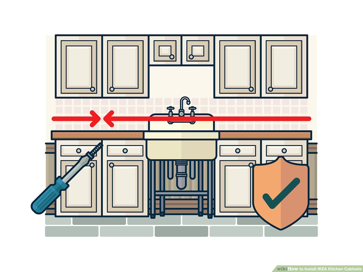 How To Install Ikea Kitchen Cabinets With Pictures Wikihow
