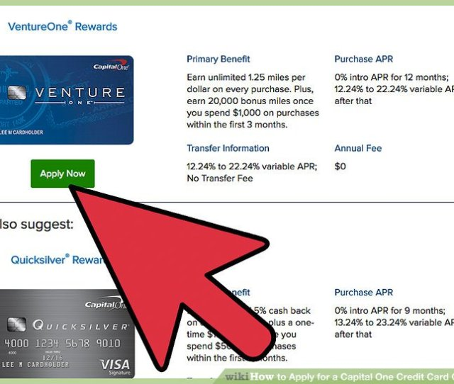 Image Titled Apply For A Capital One Credit Card Online Step 5