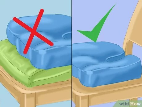 how to use a coccyx cushion 12 steps
