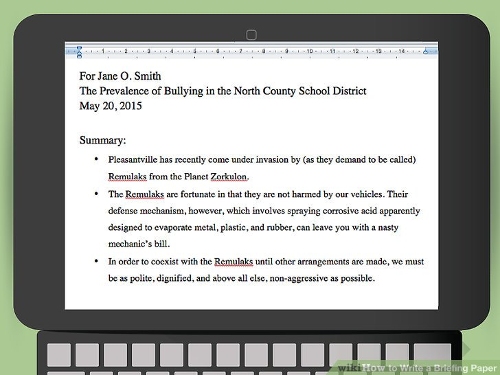 How To Write A Briefing Paper With Pictures WikiHow