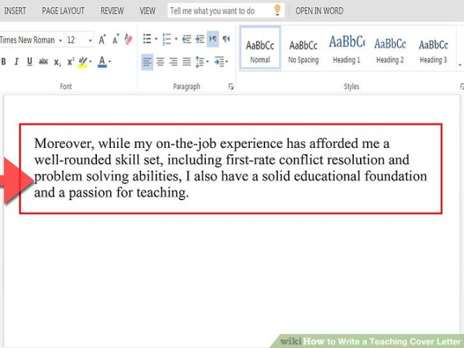 1st Paragraph Cover Letters