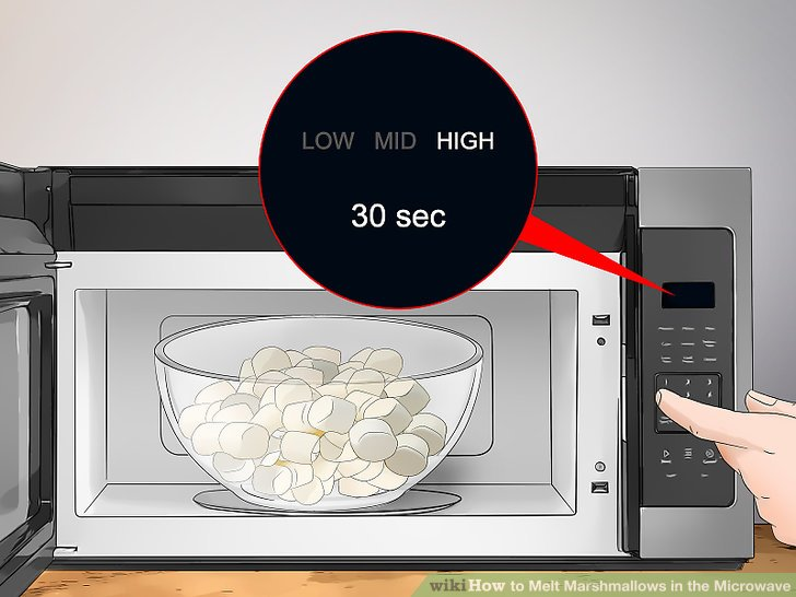 how to melt marshmallows in the microwave