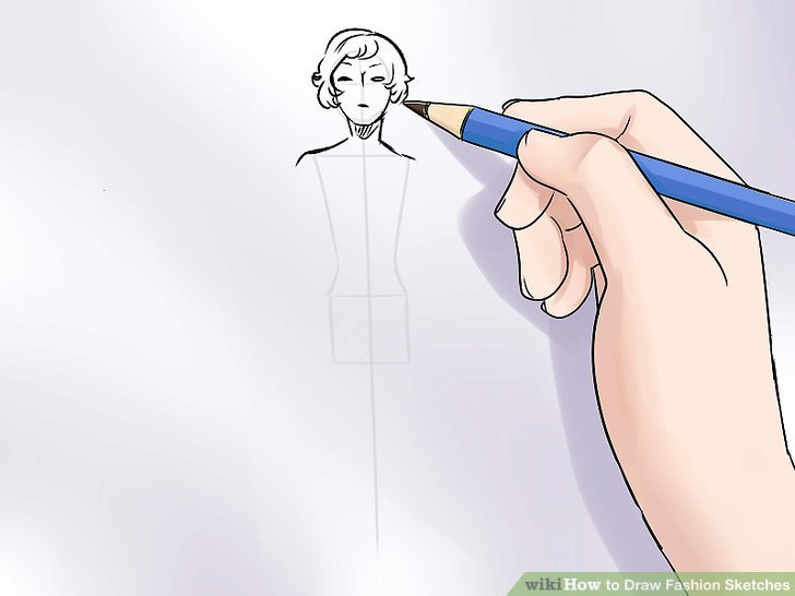 The Simplest Way to Draw Fashion Sketches   wikiHow Image titled Draw Fashion Sketches Step 7