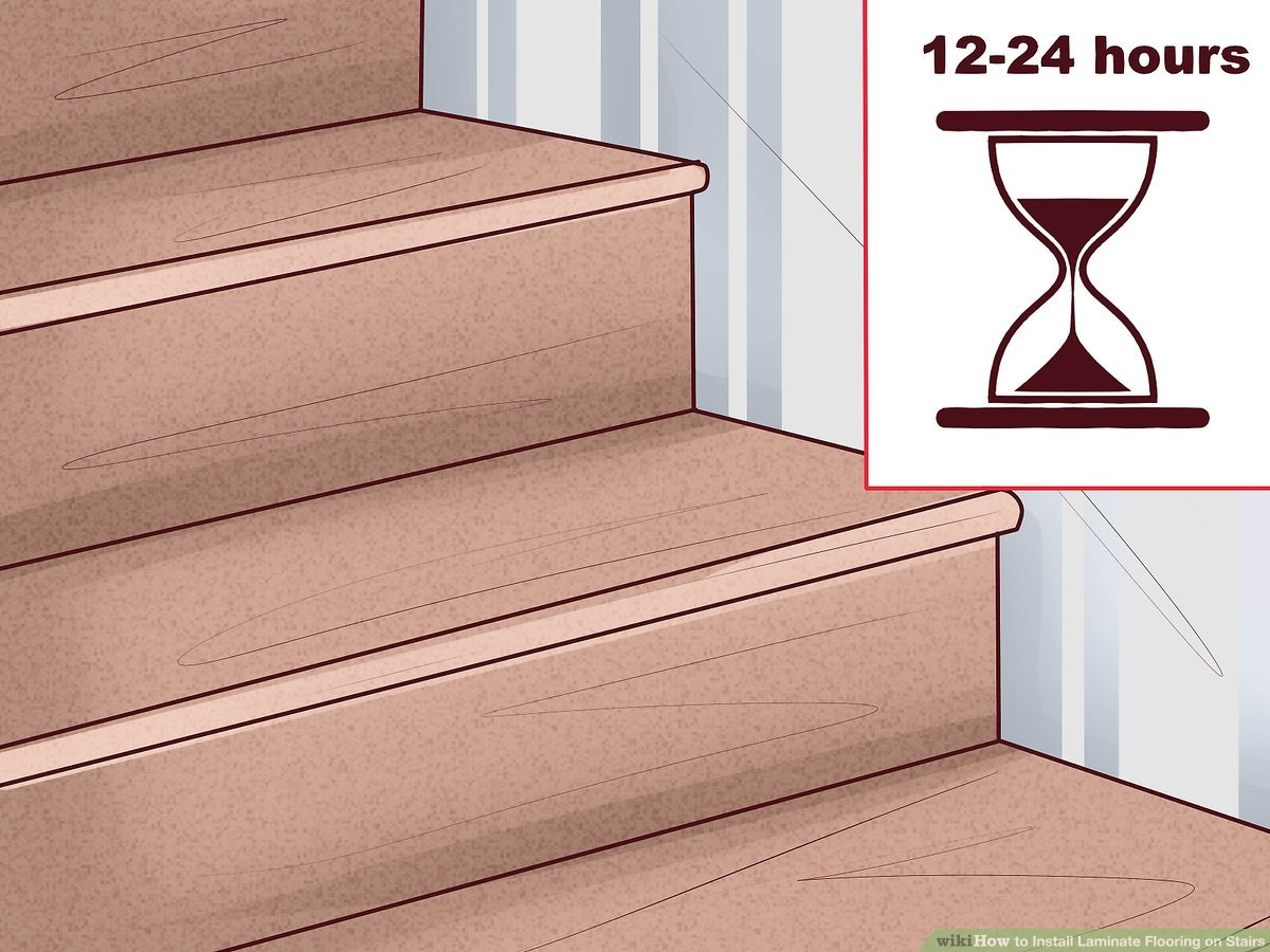 How To Install Laminate Flooring On Stairs 13 Steps   Stairs Covered In Wood   Simple   Wood Paneling   Glass   Rustic   White