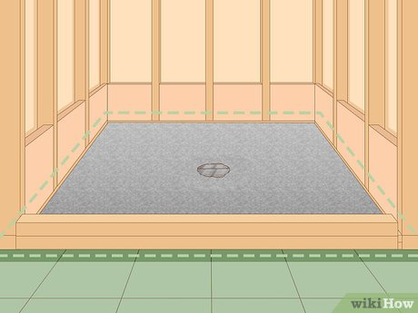 how to make a shower pan with pictures