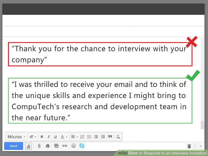 Image Titled Respond To An Interview Invitation Step 3