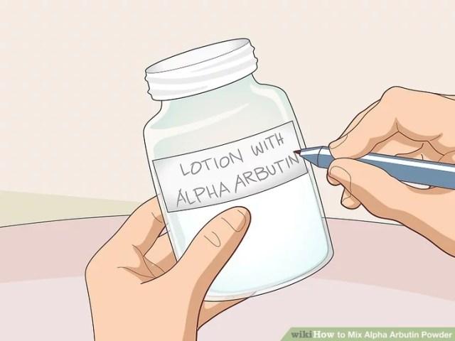 قم بكتابة ملصق على علبة تخزين الكريم أو اللوشن وتخزينه في منطقة مظلمة