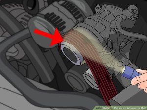 How to Put on an Alternator Belt (with Pictures)  wikiHow