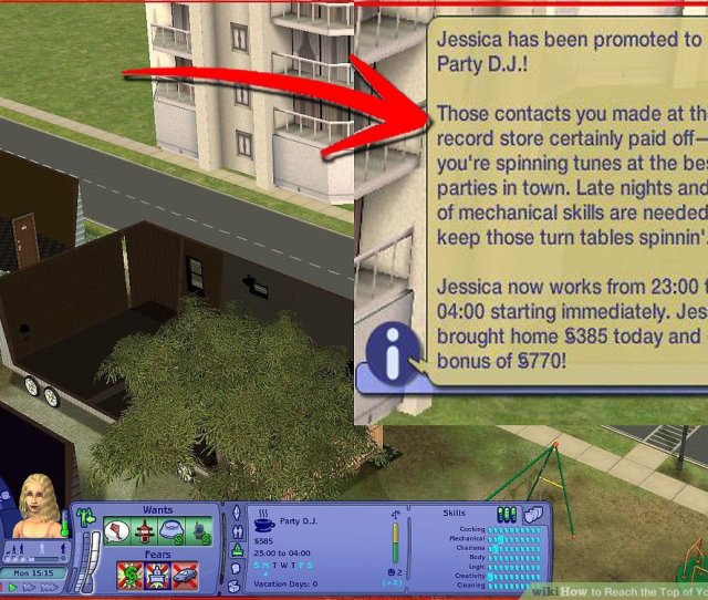 How To Reach The Top Of Your Job Career In Sims   Steps