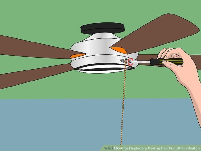 How to Replace a Ceiling Fan Pull Chain Switch  with Pictures  Image titled Replace a Ceiling Fan Pull Chain Switch Step 3