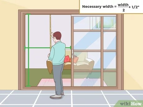 to install a sliding screen door