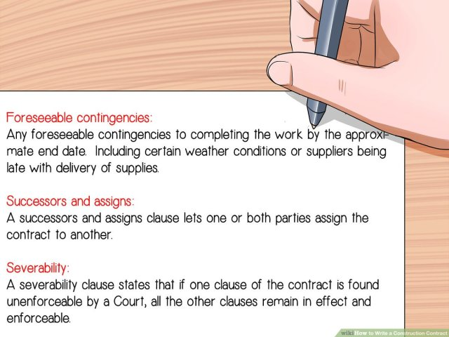 How to Write a Construction Contract: 18 Steps (with Pictures)