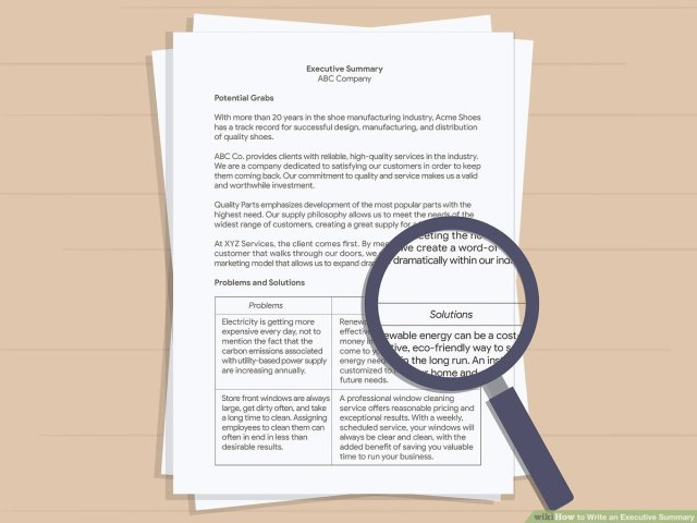 How to Write an Executive Summary - wikiHow
