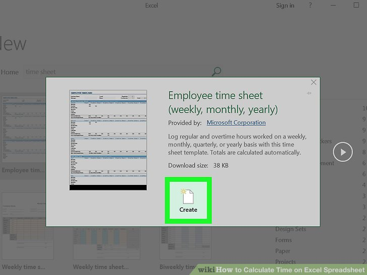 How to Calculate Time on Excel Spreadsheet  with Pictures  Image titled Calculate Time on Excel Spreadsheet Step 5