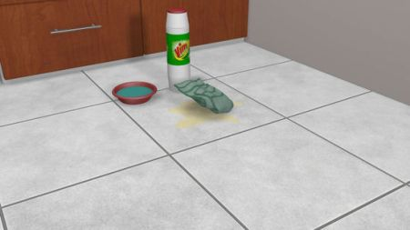 3 Ways to Clean Tile Flooring   wikiHow Prepare a paste using a 50 50 mixture of scouring powder and warm water