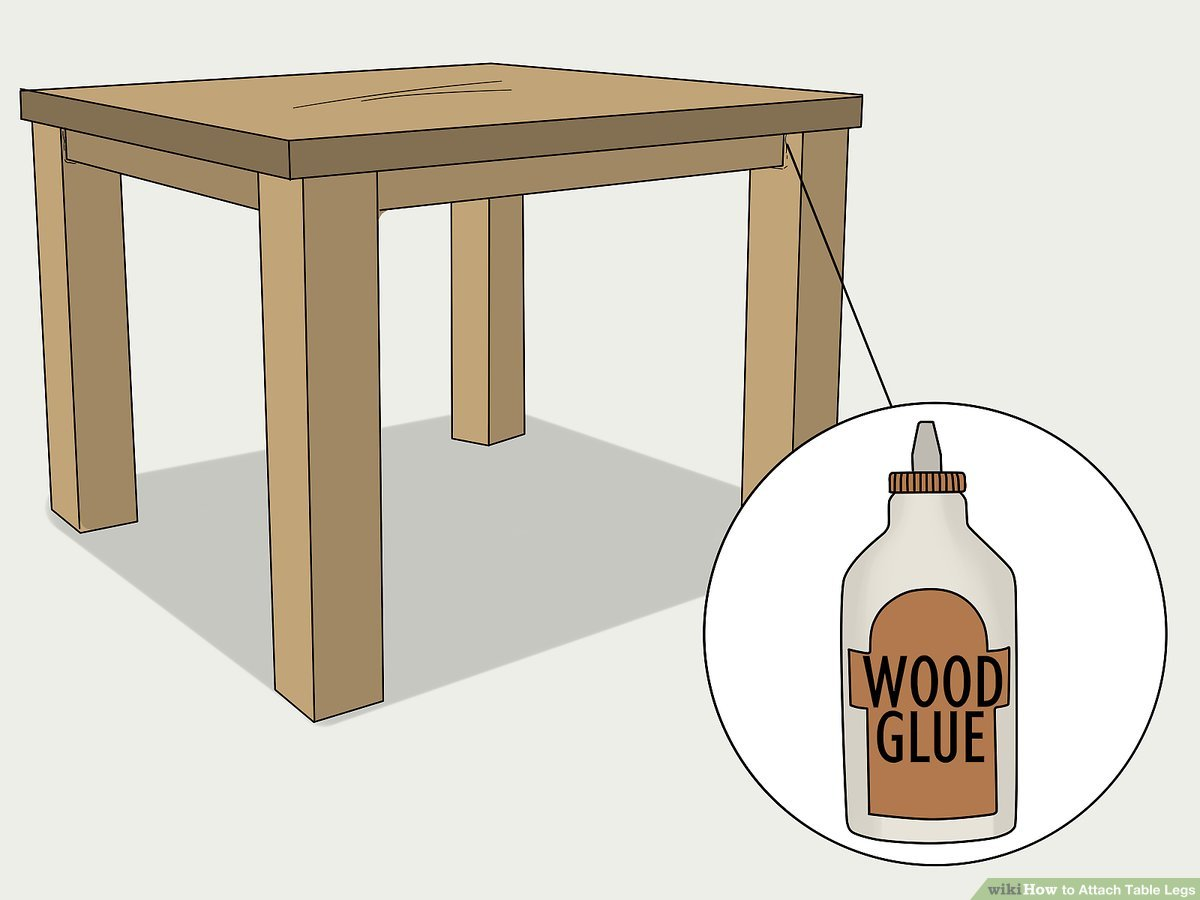 3 ways to attach table legs wikihow