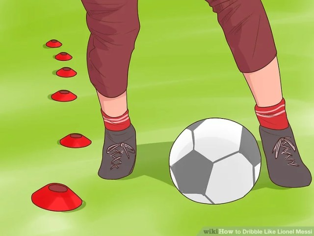 Image titled Dribble Like Lionel Messi Step 1