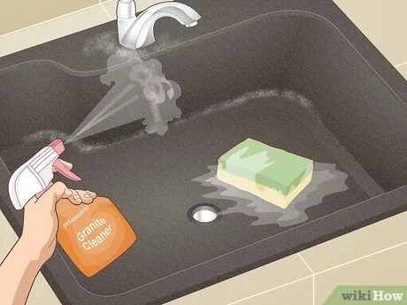 3 ways to clean a granite sink wikihow