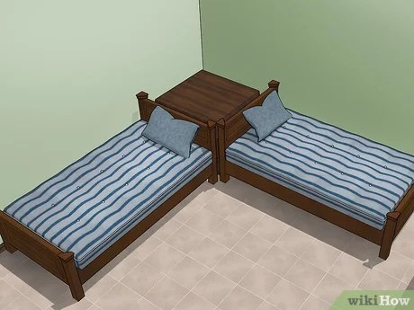 to fit two twin beds in a small room