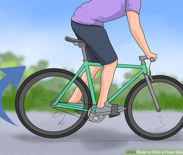 Image Titled Ride A Fixed Gear Bike Step