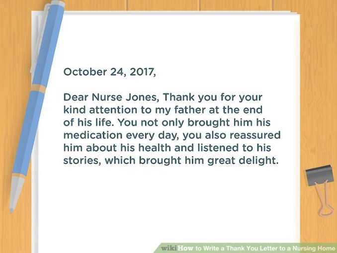 Thank you letter to nurse from patient newsinvitation image titled write a thank you letter to nursing home step 6 expocarfo Images