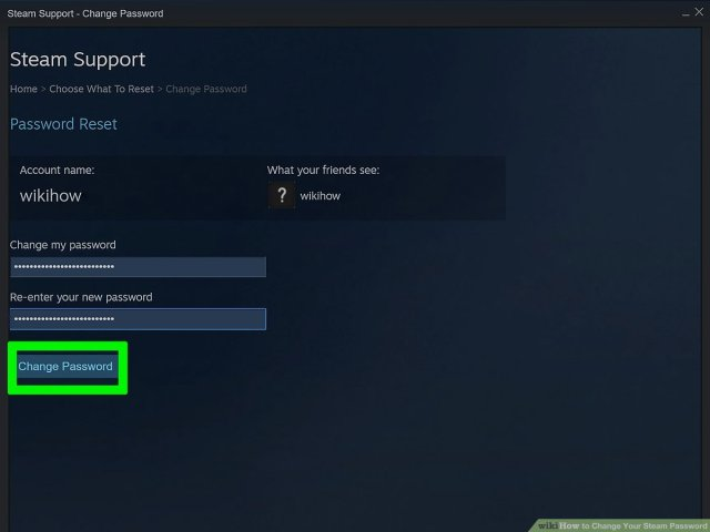 How to Change Your Steam Password