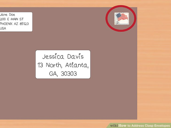 How To Address Clasp Envelopes 12 Steps With Pictures