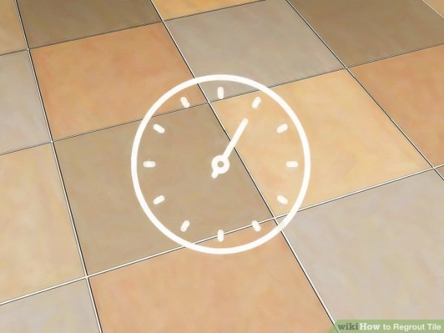 How to Regrout Tile  13 Steps  with Pictures    wikiHow Image titled Install Marble Floor Tile Step 24