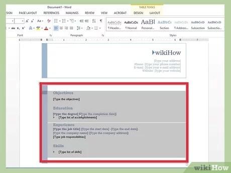3 Cara Untuk Membuat Resume Menggunakan Microsoft Word Wikihow