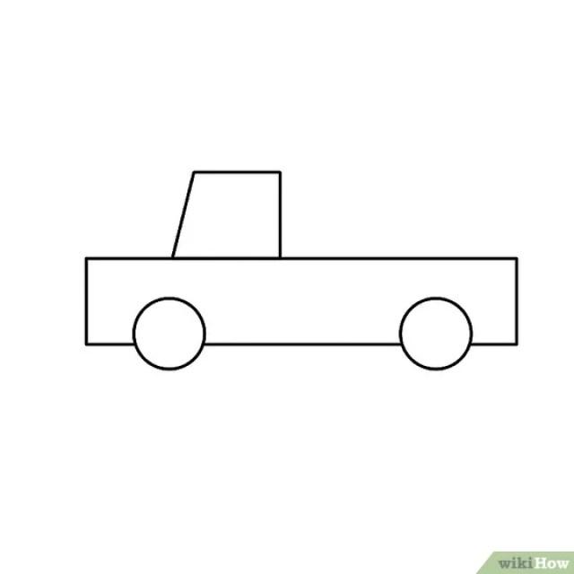 Cara Menggambar Mobil Truk PickUp