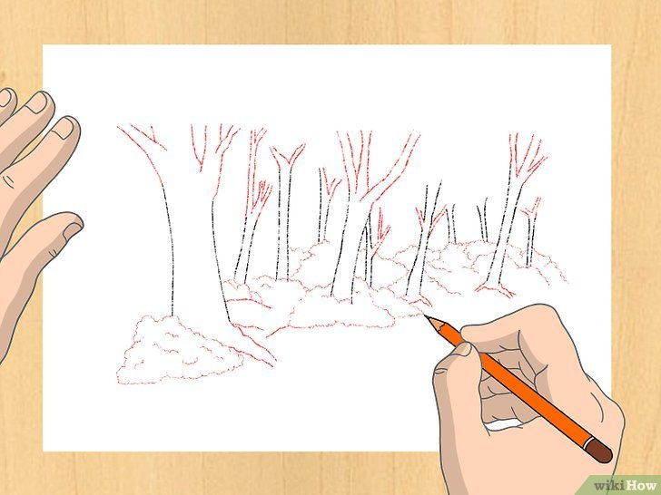 Einen Wald Zeichnen WikiHow