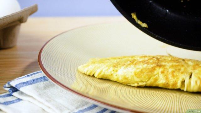 Ein einfaches Omelett kochen