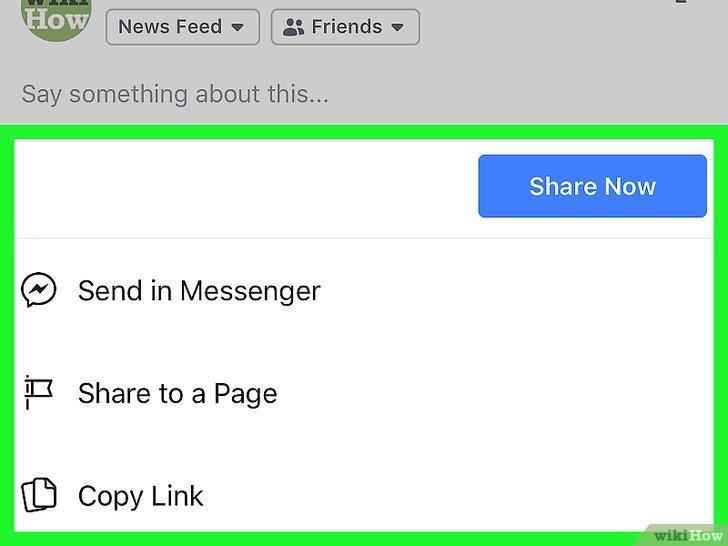 كيفية مشاركة المنشورات على فيسبوك