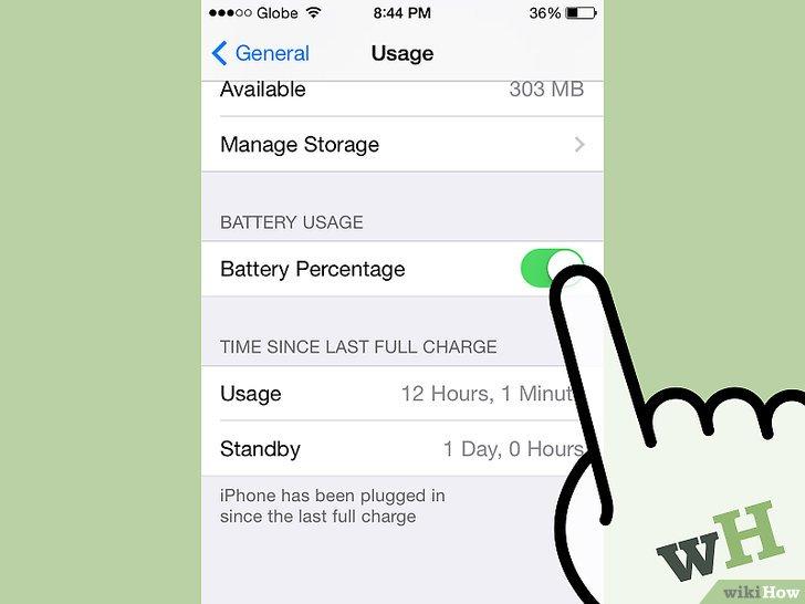 صورة عنوانها Get Battery Percentage on an iPhone Step 4