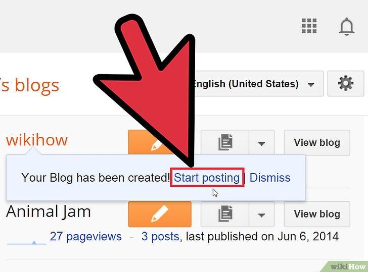 صورة عنوانها Start a Blog Step 10