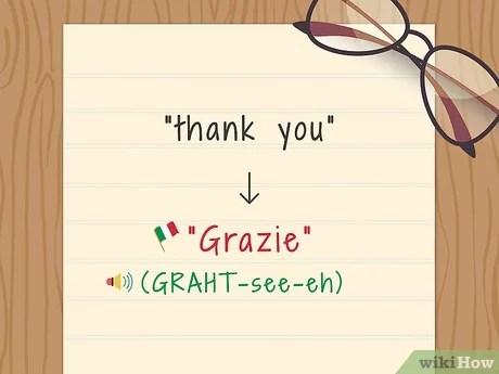 dire merci en italien wikihow