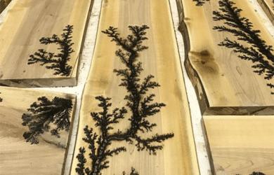Cara Membuat Pola Petir Lichtenberk Pada Permukaan Kayu