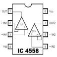 Cara Mengukur Pin Out Kaki Terminal IC Op Amp 4558