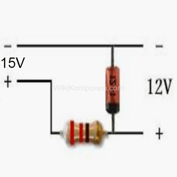 Menurunkan Tegangan Arus DC atau VDC Menggunakan Resistor dan Zener