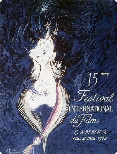 affiche festival de cannes 1962 Toutes les affiches du festival de Cannes de 1946 à 2013