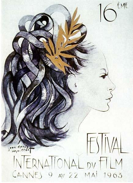 affiche festival de cannes 1963 Toutes les affiches du festival de Cannes de 1946 à 2013